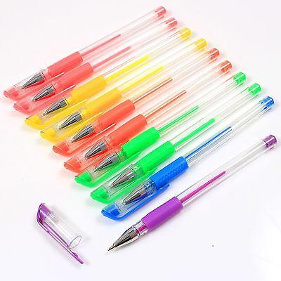 Art Box 10 Assorted Colours Fibre Pens Child Kids Art Craft Colour Pen Marker