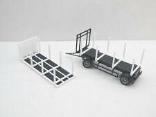 1:87 Herpa Doll Holz Aufbauten für Hängerzug weiß schwarz für  Umbau Eigenbau