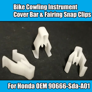 20x Honda Bike Cowling Instrument Cover Bar /& Fairing Snap Clips 90666SDAA01