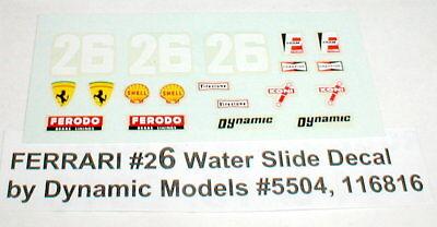 Jim Hall #6 Chevy Chaparral Slot Car Decals Sheet Water Slide Original NOS 1//24