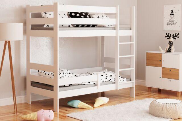 Letto a castello per bambini in legno Sophie, colore Bianco