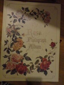 THE ROSE PHOTOGRAPH PHOTO ALBUM VICTORIAN DRAWING SCRAPBOOK