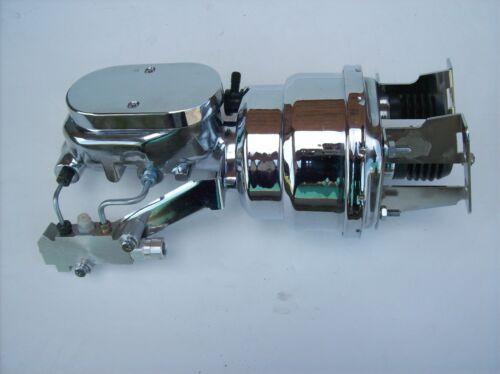 "Impala Belair 7/"" Dual Chrome Power Brake Booster Chrome master Disc//Disc"