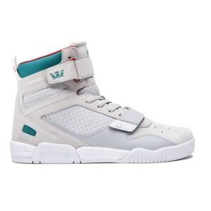 c50079a8a9a2 Image is loading Supra-Breaker-Shoes-Light-Grey-Teal
