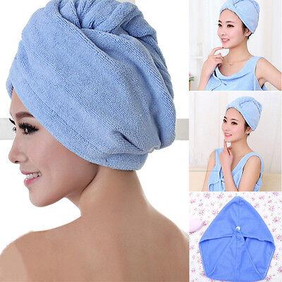 Quick Dry Microfiber Towel Hair Magic Drying Turban Wrap Hat Cap Bathing Hot New