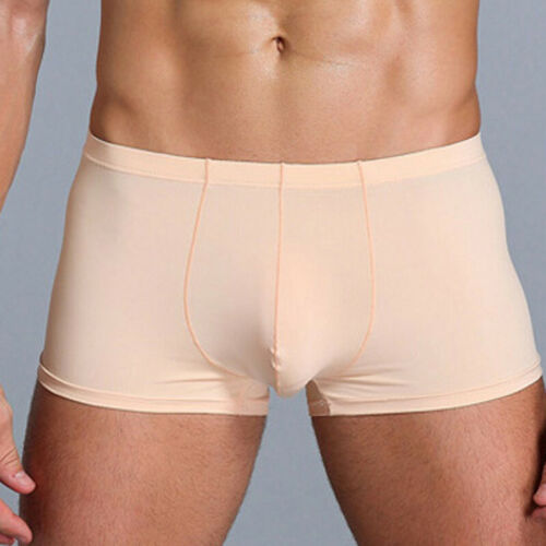 Men/'s Low Waist Boxers Briefs Shorts Elastic Bulge Pouch Stretch Solid Underwear