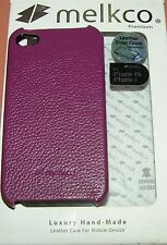 Melkco Leather Snap Case for Apple iPhone 4/4s, Burgundy color, one part snap on