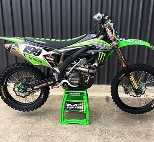 NEW 'KAWANA' Full Graphics Decals Kit Kawasaki KXF250 KXF 250 KX250F ...