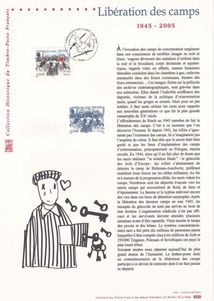 100% De Qualité Document Philatélique 44-05 1er Jour 2005 Libération Des Camps