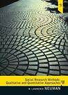 Social Research Methods : Qualitative and Quantitative Approaches by W. Lawrence Neuman (2010, Hardcover, New Edition)