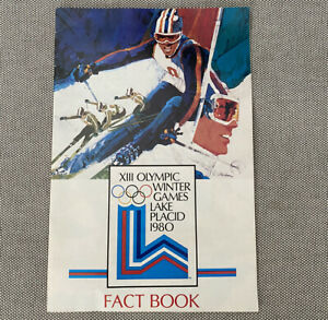 Vintage 1980 XIII Olympic Winter Games Lake Placid Fact ...