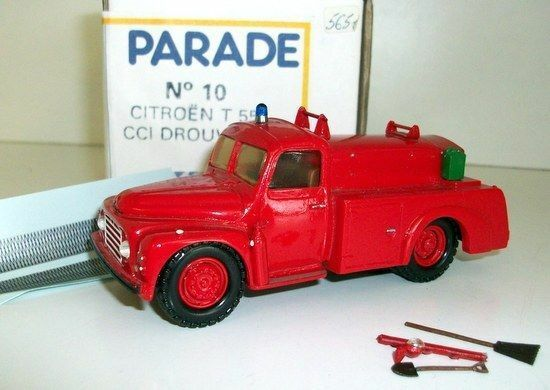 PARADE MODELS 1/50 - NO.10 CITROEN T 55 CCI DROUVILLE - FIRE ENGINE