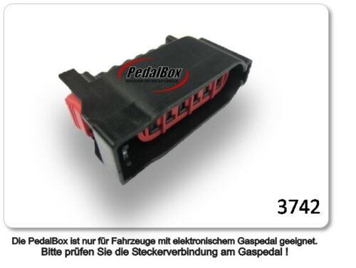 DTE pedalbox 3 S Pour Ford Fiesta 44 kW 06 2008-1.25 Tuning gaspedalbox puce