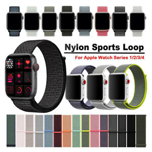 Woven-Nylon-Sport-Loop-Cinturino-Watch-Strap-Per-Apple-Watch-Band-Series-5-4-3-2