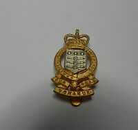 Royal Army Ordnance Corps Staybrite cap Badge  Queens Crown genuine issue b2