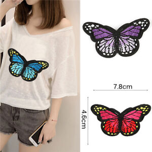 5PCS Embroidery Butterfly Embroidered Sew On Patch Badge Fabric Applique DIY  X