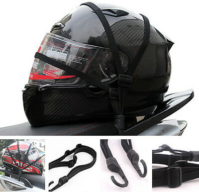 Strength Retractable Helmet Luggage Elastic Rope Strap With Hooks For Harley CVO