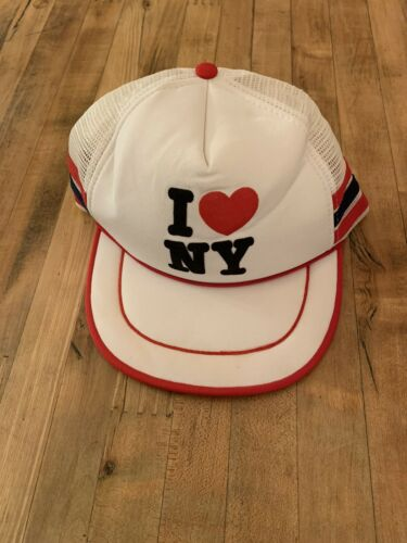 Vintage RARE 3 Stripe Hat I Love NY Hat Made In Th