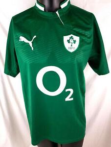 Ireland-Rugby-Union-2011-12-Home-Jersey-Shirt-IRFU-Mens-Large-Puma-O2-B42