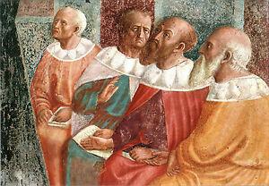 CARTOLINA-POSTCARD-I-FILOSOFI-DI-ALESSANDRIA-MASOLINO-DA-PANICALE-1425-1