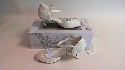 G Westerleigh Wedding Bridal Shoes Daisy Ivory Size 35 Uk 2