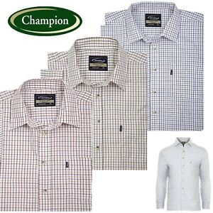 hunter Outdoors Polycotton Tatersal Country Shirt Hunting Fishing Country