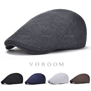 c74badc3f2a VOBOOM Mens Ivy Hat Cotton Newsboy Gatsby Cap Golf Driving Flat ...
