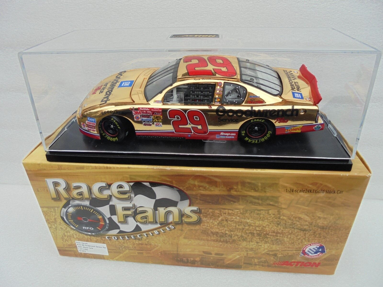 Kevin Harvick GM Goodwrench 2001 McDonald acción 24kt oro 1 24th Nascar Diecast M