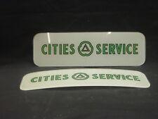 CITIES SERVICE (GREEN)  AD GLASS - BENNETT 900-1000 GAS PUMP