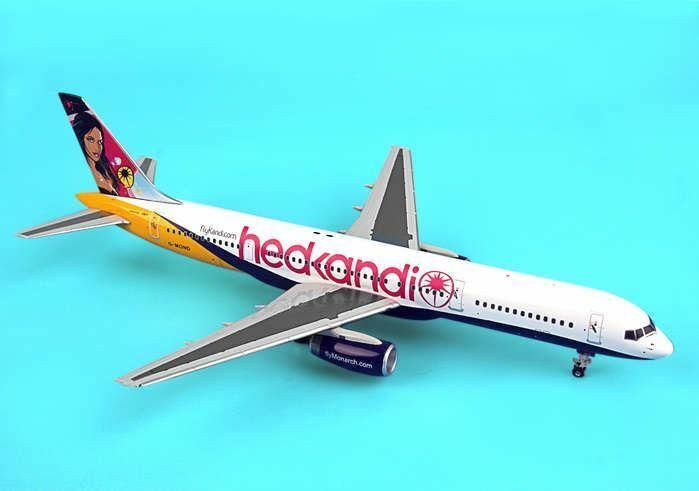RUS009 Monarch Airlines HedKandi B757-200 G-MOND Model Airplane