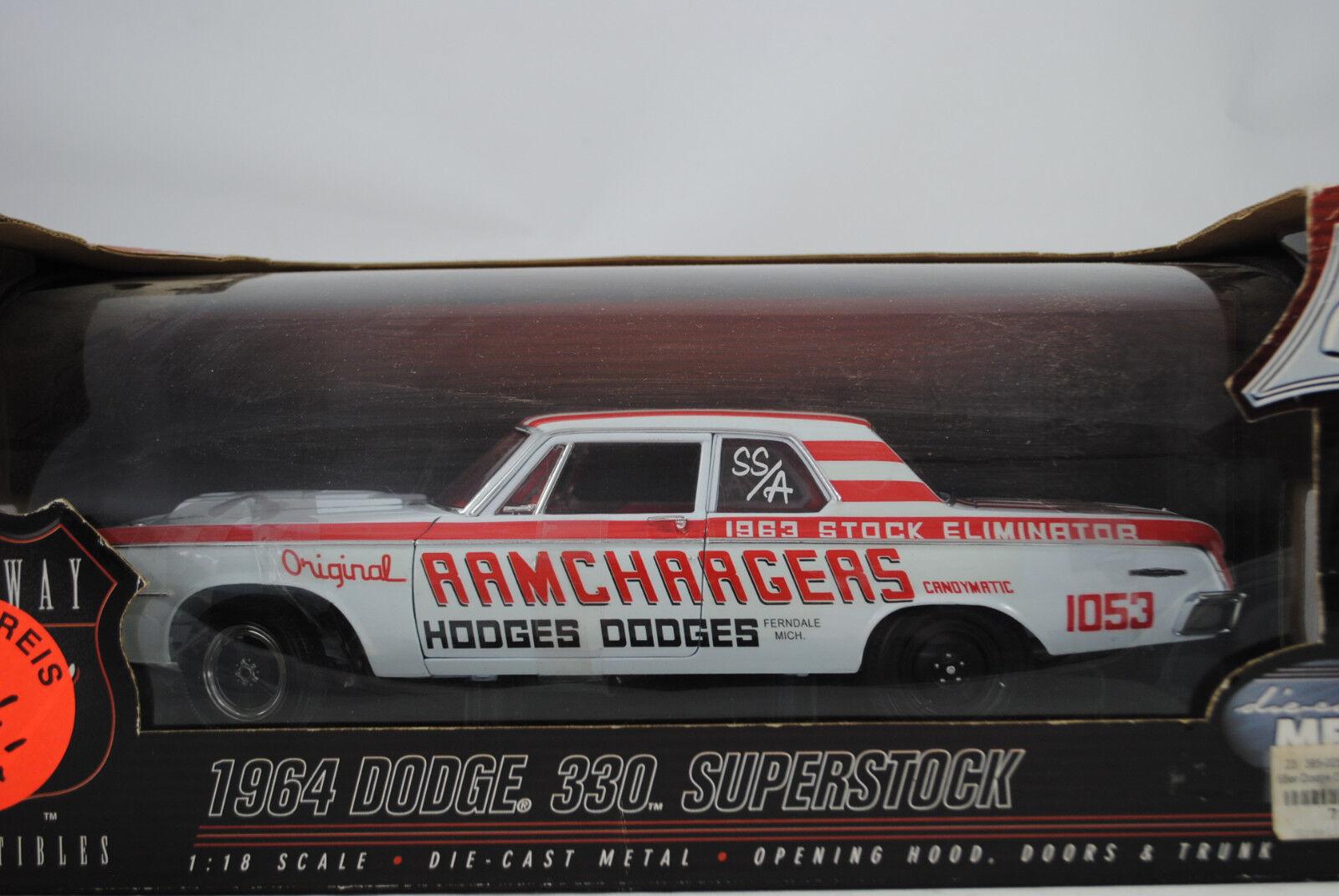 1 18 Highway 61 1964 Dodge 330 Superstock Ramchargers Hodges Rareza Neu Ovp