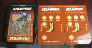 Vintage-1982-Intellivision-Stampede-Video-Game-Cartridge-with-Overlays