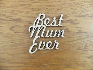 MDF // Wooden x 1 Etch Laser Cut Blank Plaque for Crafting BEST MUM
