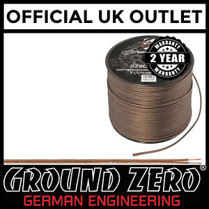 Ground-Zero-100-Metre-18awg-Gauge-High-Performance-Flexible-Speaker-Wire-Cable