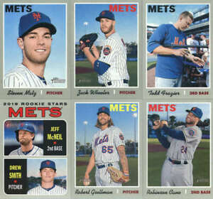 2019 Topps Heritage Baseball New York Mets Team Set of 12 Cards (No SPs)