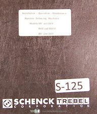 Schenck De Dev Dae Daev Db And Dbv Balancing Machines Operation Amp Maint Manual