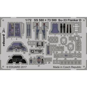Eduard-Photoetch-Zoom-1-72-Su-33-Flanker-D-ZVEZDA-Kit-edpss-580-172-Su33