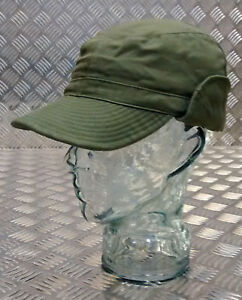 Genuine-Swedish-Army-Green-M59-Combat-Fatigue-Base-ball-Cap-Hat-All-Sizes-G1