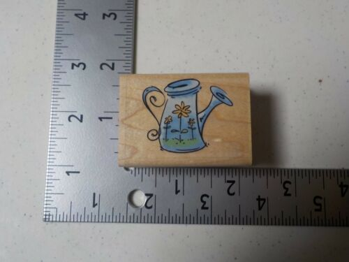 INKADINKADO 95343 WATERING CAN WOOD MOUNTED RUBBER STAMP NEW A1752