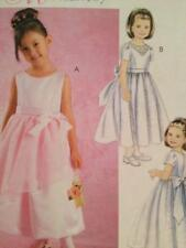 2e5bc16dc McCalls M5742 Girls Dresses Short or Long Sleeves Sewing Pattern ...