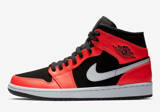 where can i buy look out for where can i buy Nike Air Jordan 1 Retro Mid BLACK INFRARED 23 ORANGE RED WHITE 554724-061  Men's