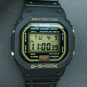RARE 1987 or noir CASIO G Shock DW 5600C 9CV (901) Japon H  DaG5F