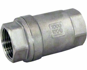 1-034-Stainless-Steel-Check-Valve-WOG-1000-Spring-Loaded-In-line-SS304-SUS304