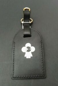 Authentic-Louis-Vuitton-Black-Travel-Luggage-Tag-Rare-Silver-Vivienne-Hot-Stamp