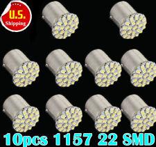 10-Pack 1157 bay15d 22 SMD LED White Car Bulb Light Brake/Stop/Tail /Reverse New