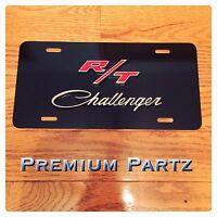 Dodge Challenger 3d License Plate Black Aluminum Custom Universal Brand