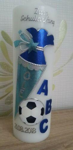 Schuleinführung Fußball Kerze zur Einschulung Zuckertüte Schulkind 2020