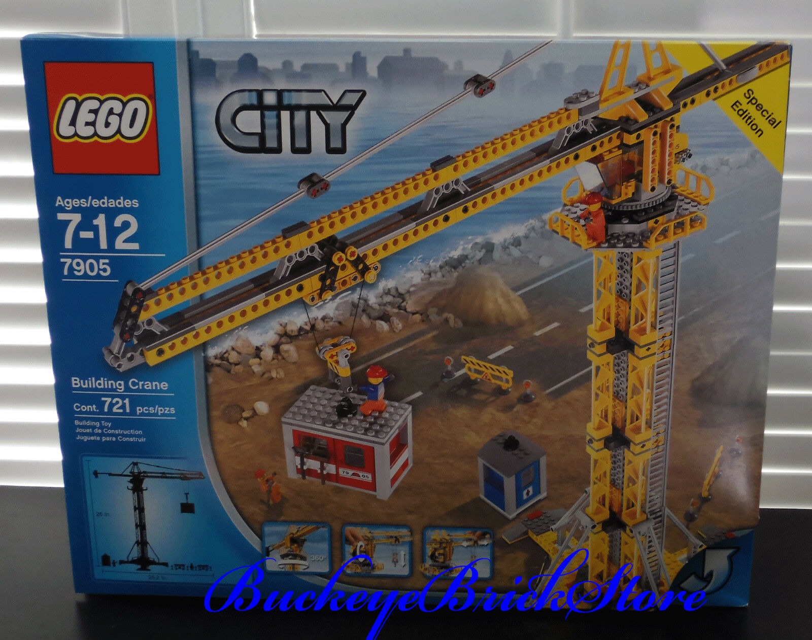 Lego Town City 7905 Tower Crane NEW Sealed Construction Set