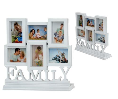 White 6 pcs Family Photo Picture Frame Set Home Desk Display Decor New