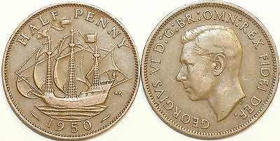 1937 to 1952 George VI Bronze Halfpenny Your Choice of Date